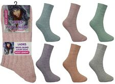 Ladies Womens Warm Thick Padded Wool Boot Socks Winter Thermal Hike Size 4-7 Lot