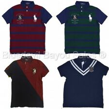Polo Ralph Lauren Mens Custom Slim Fit Polo Shirt Mesh Big Pony Logo Rowing Club
