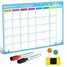 Magnetic Whiteboard Dry Erase Board Magnets Fridge Refrigerator To-Do List New