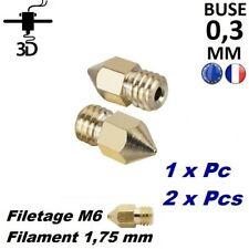 Buse 0,3 mm Filament 1,75mm M6 Extrudeur MK8 Imprimante 3D Printer Anet Creality