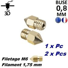 Buse 0,8 mm Filament 1,75mm M6 Extrudeur MK8 Imprimante 3D Printer Anet Creality