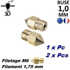 Buse 1,0 mm Filament 1,75mm M6 Extrudeur MK8 Imprimante 3D Printer Anet Creality