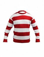 Kids Boys Unisex Red / White Stripe Knitted Book Week Jumper Age 5-12 Years