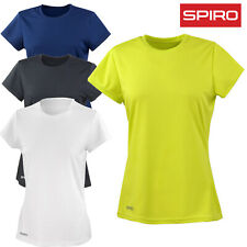 Spiro T-SHIRT QUICK DRY SOFT TEE TOP SPORTS RUNNING ATHLETIC GYM LADIES XS-XL