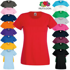Fruit of the Loom Ladies Value Weight Short Sleeve Crew Neck T-Shirt Fitted Top
