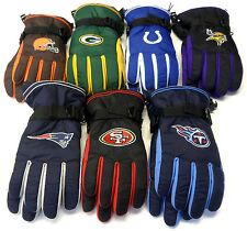 NWT NFL Reebok Team Apparel Men's Winter Gloves Choose Size NEW