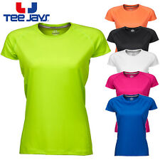 TEE JAYS LADIES COOLDRY TEE SPORT GYM TRAINING RUNNING LIGHTWEIGHT COMFORT SIZES