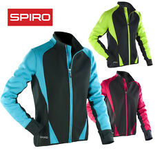 SPIRO LADIES SOFTSHELL JACKET SPORT RUNNING BIKE WINDPROOF BREATHABLE QUICK DRY