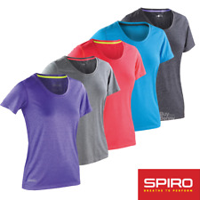 SPIRO FITNESS TOP GYM SPORT YOGA T-SHIRT LIGHTWEIGHT BREATHABLE COMFORT XXS-2XL
