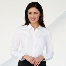 Brook Taverner Womens Long Sleeve Smart Work Blouse Ladies Semi Fitted Shirt New