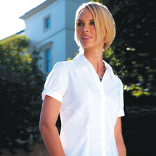 Brook Taverner Women's Short Sleeve Cotton Blouse Easy Care Business Shirt New