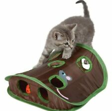 PAWZ® 9 Hole Hide Mouse Hunt Cat Toy Hide Seek Game Pop-up Collapsible Puzzle