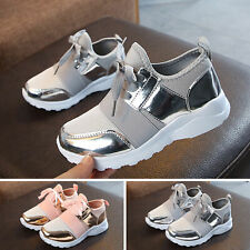 Fashion Kids Girls Lace-up Sport Running Sneakers Shoes Trainers Mesh Size EVA