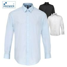Premier Mens Heavy Weight Easy Care Long Sleeve Business Smart Work Office Shirt