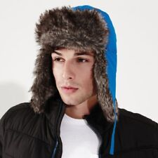 bb0b55251 Knit Style Cream Trapper Hat With Faux Fur