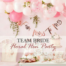 Team Bride To Be Hen Party Decoration Supplies Rose Gold Sash Bachelorette Party