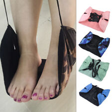 Portable Folding Travel Flight Footrest Seat Carry on Foot Rest Holder Pillow