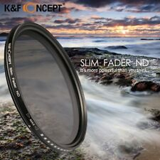 K&F CONCEPT Slim ND2-400 Lens Filter Adjustable Fader Variable Canon Nikon Sony