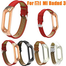 Replacement Wristband Band Strap+ Metal Case Cover For Xiaomi Mi Band 3 Bracelet