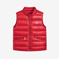 Moncler for Kids 'Gui' Padded Down Gilet - Red