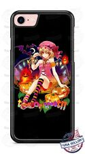 Halloween Trick or Treat Girl with Bats Phone Case for iPhone Samsung Google etc