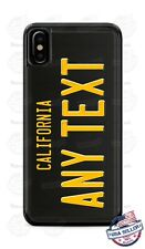 Custom CALIFORNIA BK License Plate Phone Case Cover Any Text for iPhone Samsung