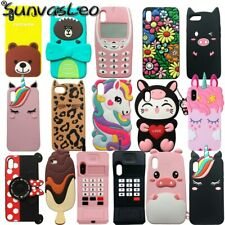For iPhone 5 5s 6s 7 8 Plus XR XS Max 3D Cartoon Animal Soft Silicone Case Cover