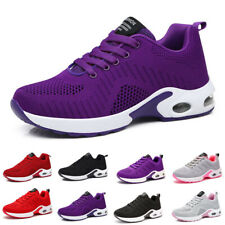 Womens Running Trainers Mesh Breathable Fitness Sports Comfy Lace Up Shoes Size