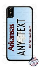 Custom ARKANSAS License Plate Phone Case Cover Any Text for iPhone Samsung Gift