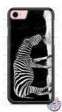 Black and White Zebra Eating Phone Case for iPhone Samsung LG Google HTC etc