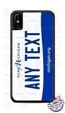 Custom MICHIGAN License Plate Phone Case Cover Any Text for iPhone Samsung GIFT