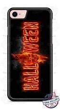Halloween Skull on Fire Design Phone Case for iPhone Samsung Google LG HTC etc