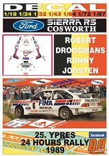 RALLY 24H YPRES 1986 JOOSTEN DROOGMANS // R DECAL 1:43 FORD RS200 #5 R
