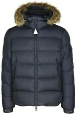 New AW18 Moncler Marque Down Fur Jacket - Navy