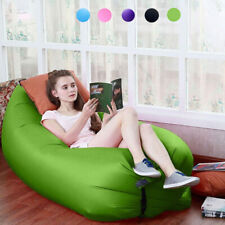 Inflatable Sofa Sleeping Bag Air Bed Lounger Chair Soft Seat Couch Camping Lazy