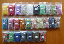 21g - 29g Bag of 9/o Rocallies 2.5mm Glass Seed Beads in a Variety of Colours
