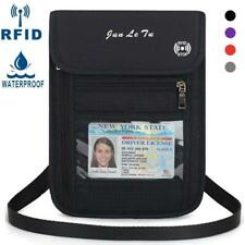 Travel Neck Pouch Passport Holder with RFID Blocking -Travel Wallet for Phone Cr