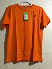 Hugo Boss Short Sleeve T-Shirt Men's T-Shirt For Summer Orange colour