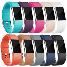 Replacement Watch Strap for Fitbit Charge 2 Premium Soft Band Buckle Wristband