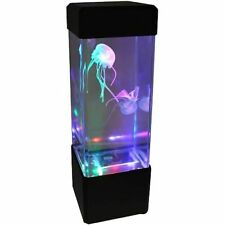 Jellyfish Fish Aquarium Tank Volcano LED Water Lamp Sea Mood Night Light DecorMC