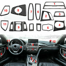 Carbon Fiber Interior Whole Trim Decals For BMW 3 4 Series F30 F32 2013-2018
