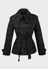 Ladies High Fashion Over-sized collar Jersey Coat