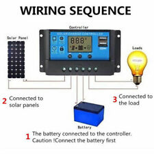 30A Solar Panel Regulator Battery Charger Controller 12/24V With LCD USB