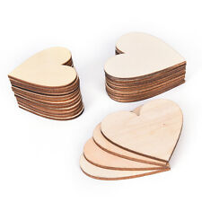 50 Pcs/Lot Colorful Mixed Heart Wooden Wood Buttons Sewing Scrapbooking JP