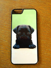 Cute Black Pug Puppy Style For iPhone iPod Touch Sony Samsung Back Hard Case