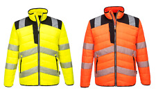 Portwest PW371 Hi Vis Baffle Water Resistant Fully Lined Padded Thermal Jacket
