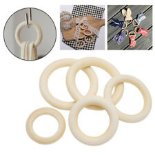 Connectors Wooden Rings Teething 10pcs Wood Round Decoration Accessories Circle