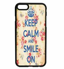KEEP CALM and Smile Rubber Hard Back Case for iPhone Samsung D25