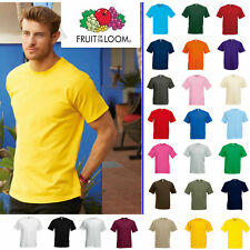 Fruit Of The Loom T Shirt T Shirts Short Sleeve 100% Cotton ! Plain Men/Women