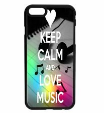 KEEP CALM and Love Music Rubber Hard Back Case for iPhone Samsung D22